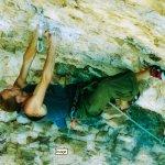 Tomas Mrázek escalando 8c a vista