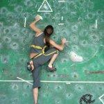 Categoria femenina de bloque en el Campeonato Nacional de Escalada 2006