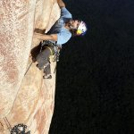 Stefan Glowacz escalando Purgatory 7c L20