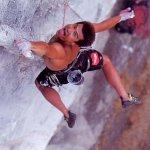 Yuji Hirayama escalando  Apaloosa 8a en Oñate el País Vasco