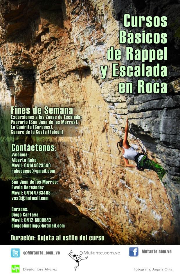 Cursos de Escalada en Roca y de Rappel 2011