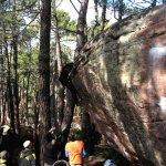 Carlos Catari en boulder 7c+ Albarracín