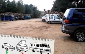 Como aparcar en Albarracín. Es muy facil !!!