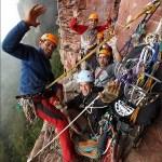 Primer ascenso en el Tepuy Adankasima con El Camino del Danto 7a – A2 L15 - Foto Wojciech Wandzel