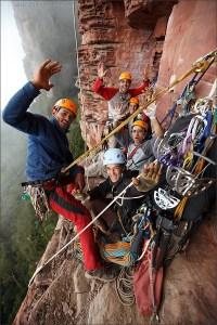 Primer ascenso Tepuy Adankasima con El Camino del Danto 7a L15 - Foto Wojciech Wandzel