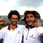 Federico Pisani y Alfredo Rangel en la cumbre del Wacuperö Amurí 5.12+ L17 Tepuy Amurí