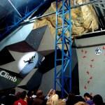 Ramón Julián en el rocodromo Climbat La Foixarda - Foto Villan Alayón