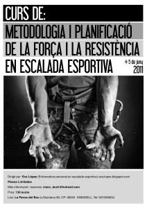 Poster Curso Metodología y Planificación Fuerza y Resistencia Escalada Deportiva
