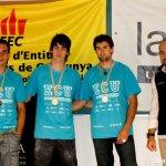 Podium masculino del Campeonato Universitario de Escalada en Bloque 2011