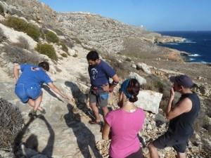 Johnny Dawes coaching en Malta. Foto Climbing Malta