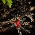 Carlos Logroño en la cueva de Ali Baba en Rodellar – Foto Bernardo Giménez