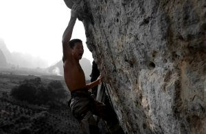 Video de escalada deportiva: China climb 8c por Da Wei en Yangshuo