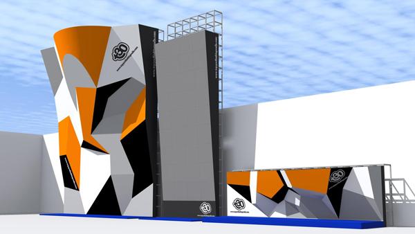 Rocodromo escalada XVII Juegos Bolivarianos Trujillo 2013 en Peru