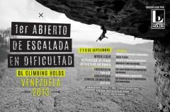 1er Abierto de Escalada en Dificultad, Venezuela 2013