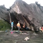 Escalada boulder en el Auyantepuy Venezuela