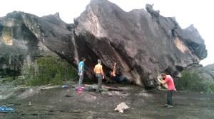 Escalada boulder en tepuy Venezuela #PointBreak