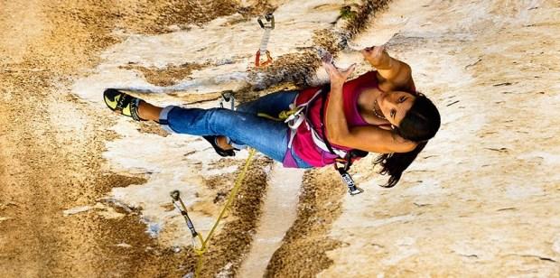 Video escalada multipitch; Daila Ojera realiza Tom et Je Ris 8b+ Verdon Francia