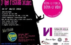 I Open de Escalada Solidario 2016 en Boulder Planet, Mataró, Barcelona
