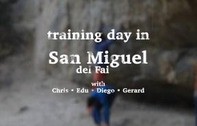 Video escalada boulder: Chris Sharma un día de entrenamiento en Sant Miquel del Fai