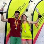 Francis Guillen y Pol Roca Campeones de Catalunya de Escalada Velocidad 2017