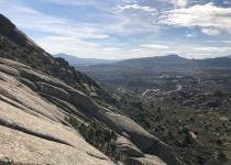 escalada deportiva de largos en Valdemanco Cancho Albalá