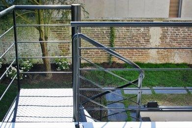 rampe galvanisée puis thermolaquée