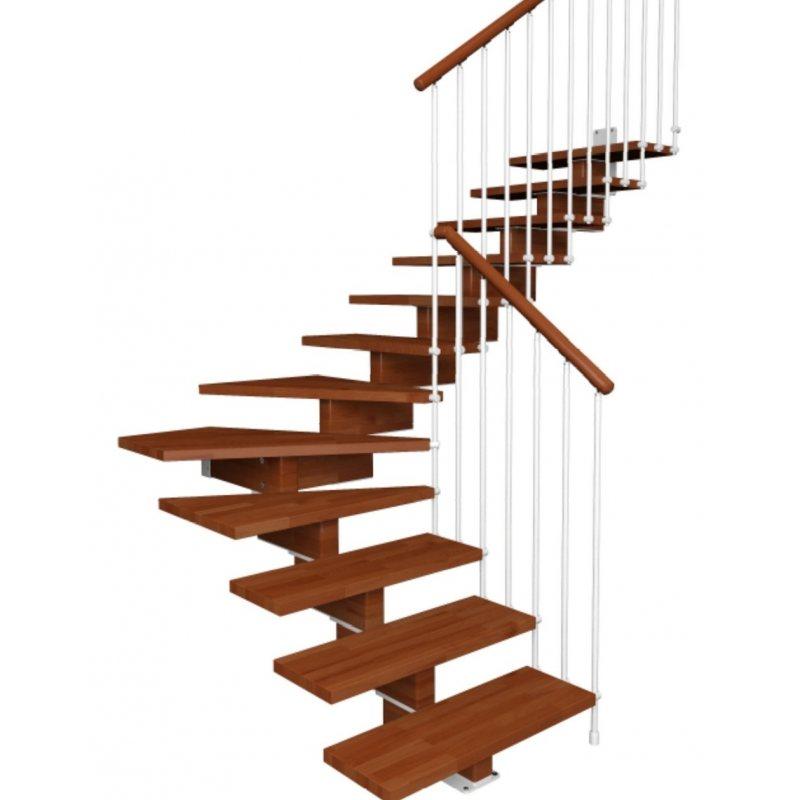 aerien contemporain 1 4 tournant escalier bois en kit