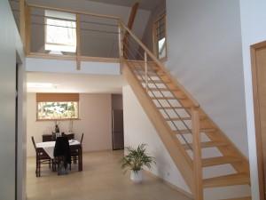 Le gc68 un escalier bois et inox moderne et pas cher fabricant d 39 escaliers sur mesure - Maison les moins cher ...