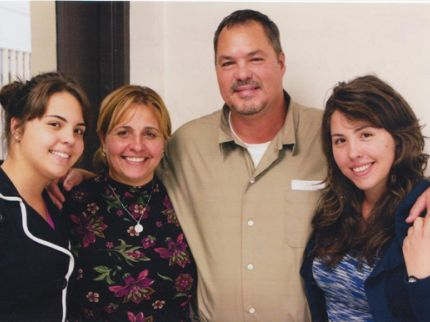 Ramón con su familia