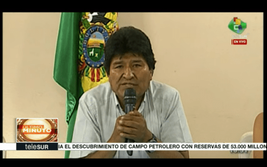 Evo resigned to prevent opposition violence from leaving victims in the nation. (Photo: TeleSUR)