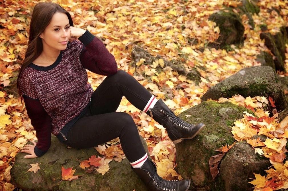 Session de photo avec Jade Lecler au Parc Jean Drapeau de