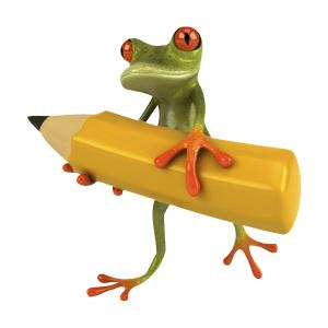 grenouille-crayon