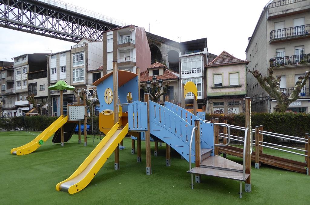 El parque infantil de Redondela (Pontevedra)