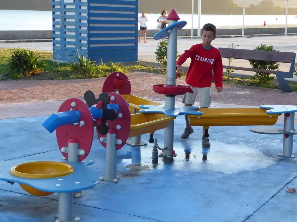 Parque con juegos de agua