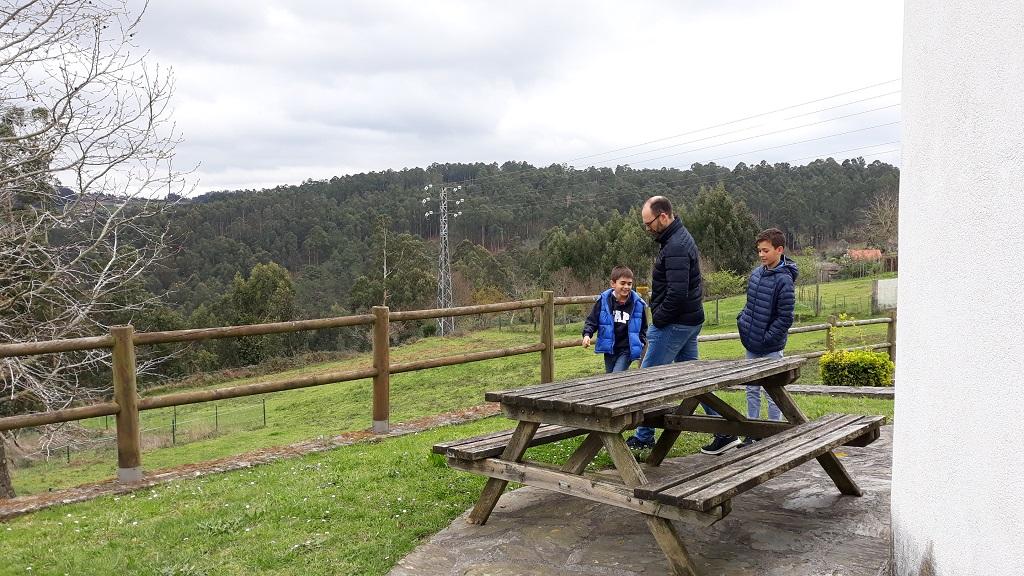 Molinos de viento en Galicia en Miño
