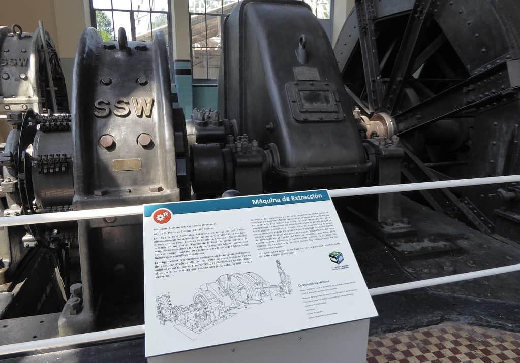 Tren minero de Langreo máquina de extracción