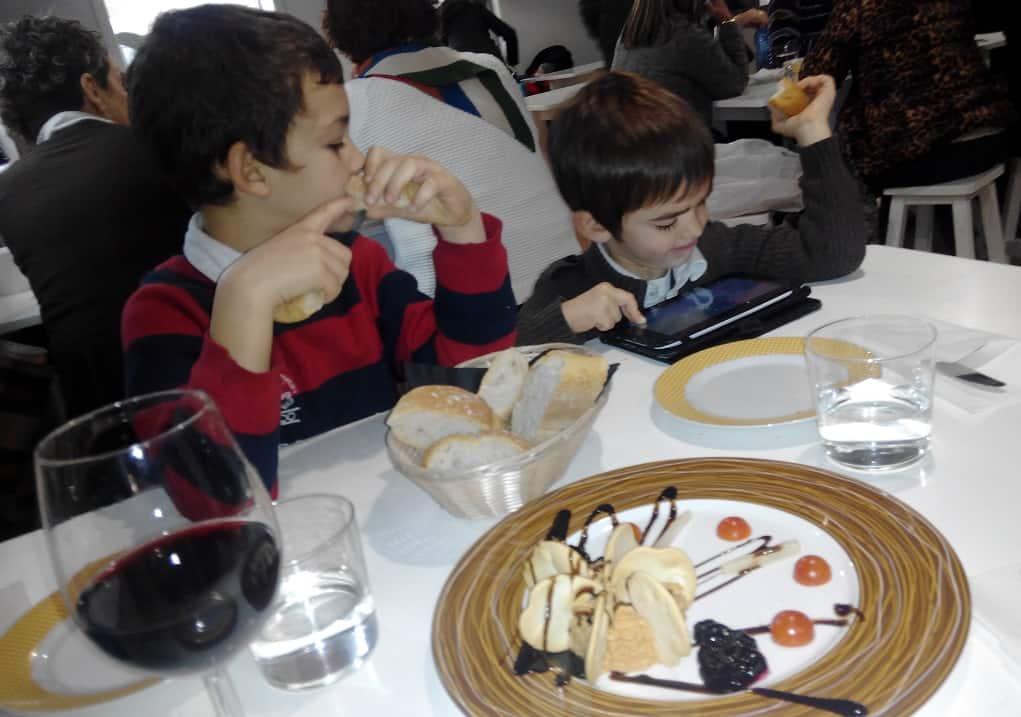 Baiona con niños dónde comer