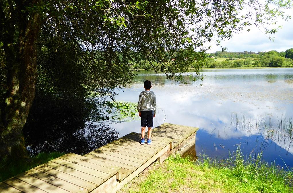 En tierras del río Tambre de ruta familiar