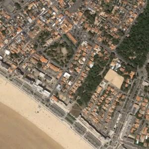 Carte de la zone de jeu Saint Jean de Monts