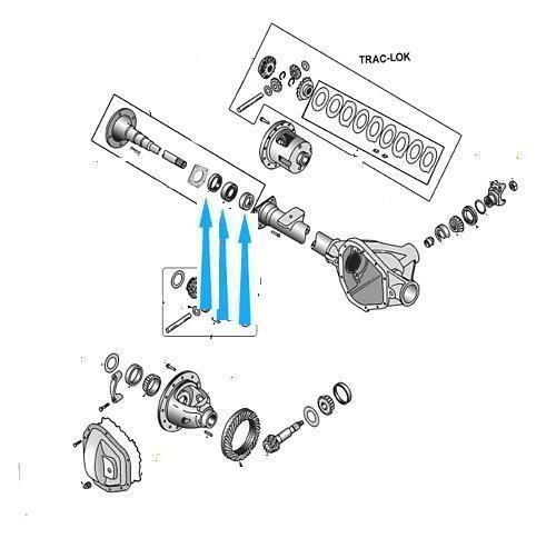 Ložisko + kroužek + těsnění hnací hřídel nápravy A49+S2146