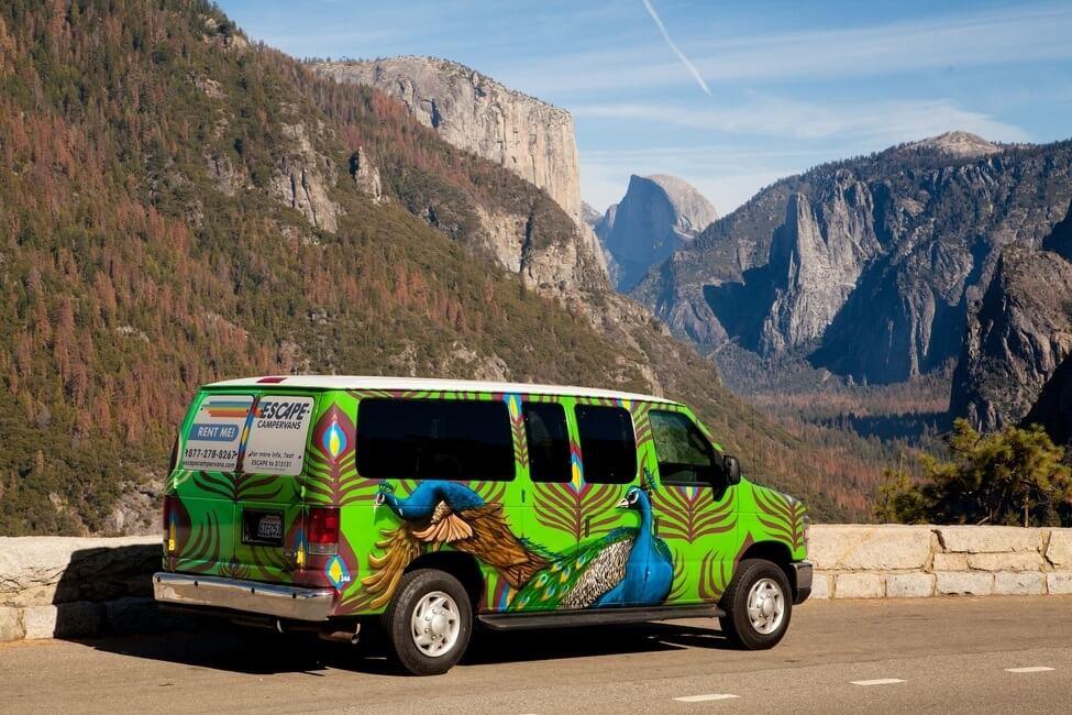 Escape Campervan Tunnel View Yosemite