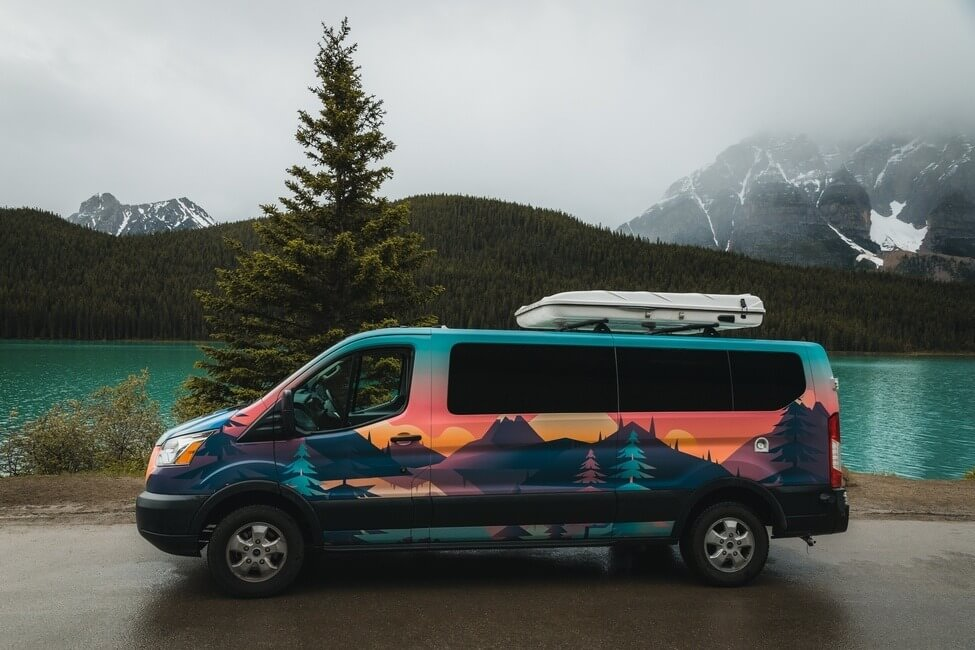Banff National Park campervan