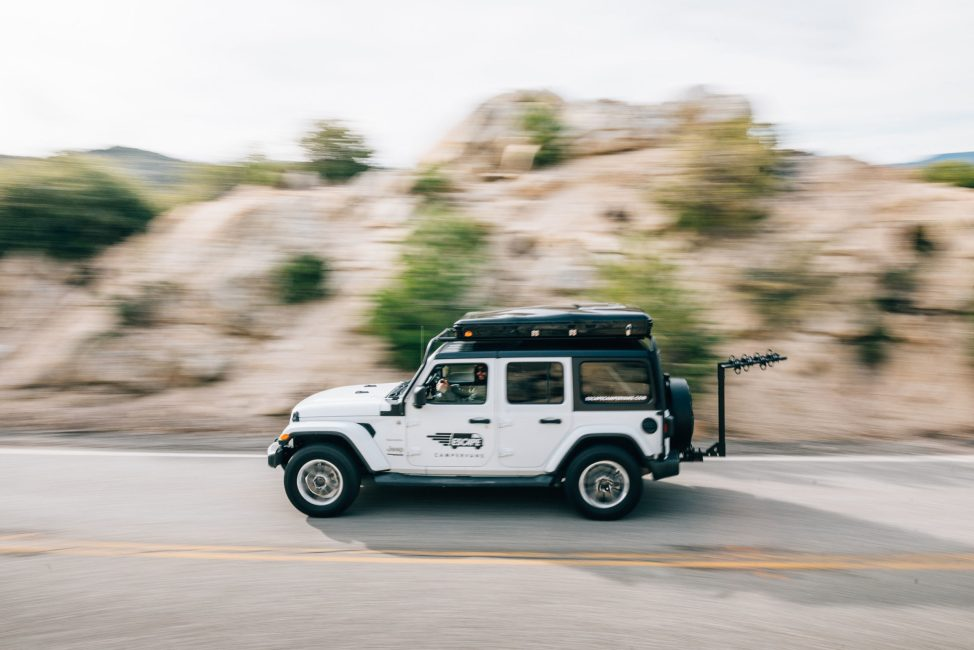 jeep camper rental driving