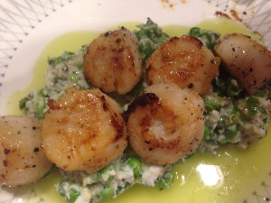 Seared to perfection, these scallops were a hit.