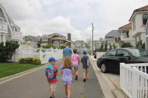 Loved seeing D walk with the kids around Longport.