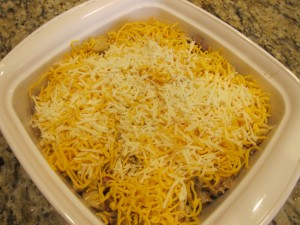 Cheesy goodness pre-cooking/melting deliciousness