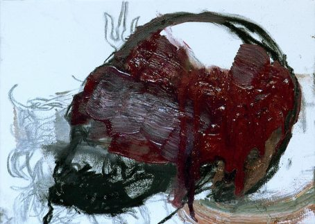 Pablo-Gonzalez-Trejo_-Skull_-9.5-x-13-inches_-24-x-33-cm_-2007_-Oil-and-Charcoal-on-Canvas