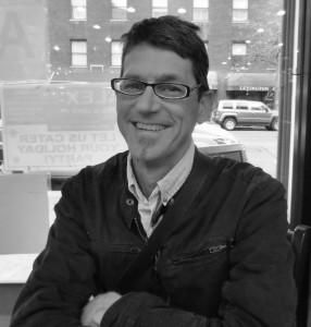 Matthew Murrey author photo, black and white