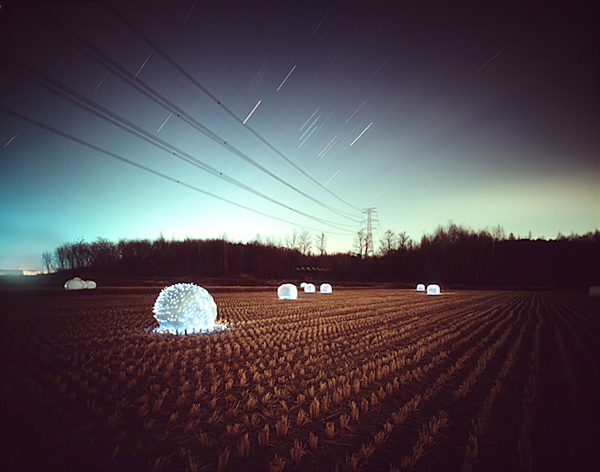Lee Eunyeol, light bales, field