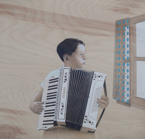 Sean Mahan, Boy with Accordian